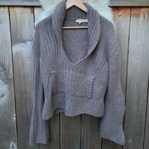 Inhabit Wool and Alpaca Brown Cowl Neck Sweater